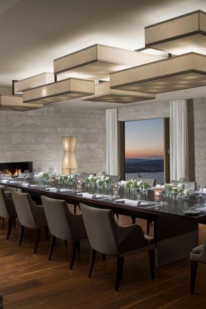 Private dining at the Bürgenstock Resort