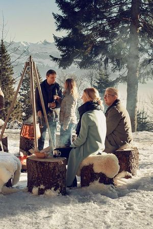 Forest fondue at Hotel Rigi Kaltbad