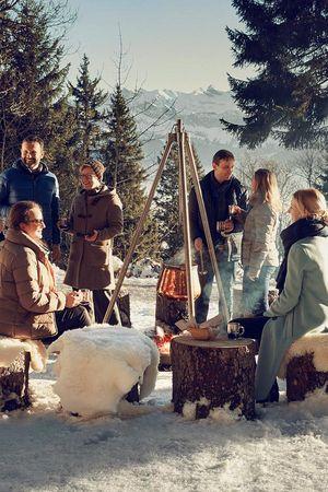 Forest fondue on Mt. Rigi