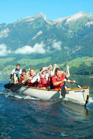 Kanu-Event auf dem Vierwaldstättersee