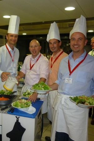Team cooking in Lucerne