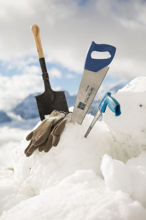 Schneeskulpturen bauen