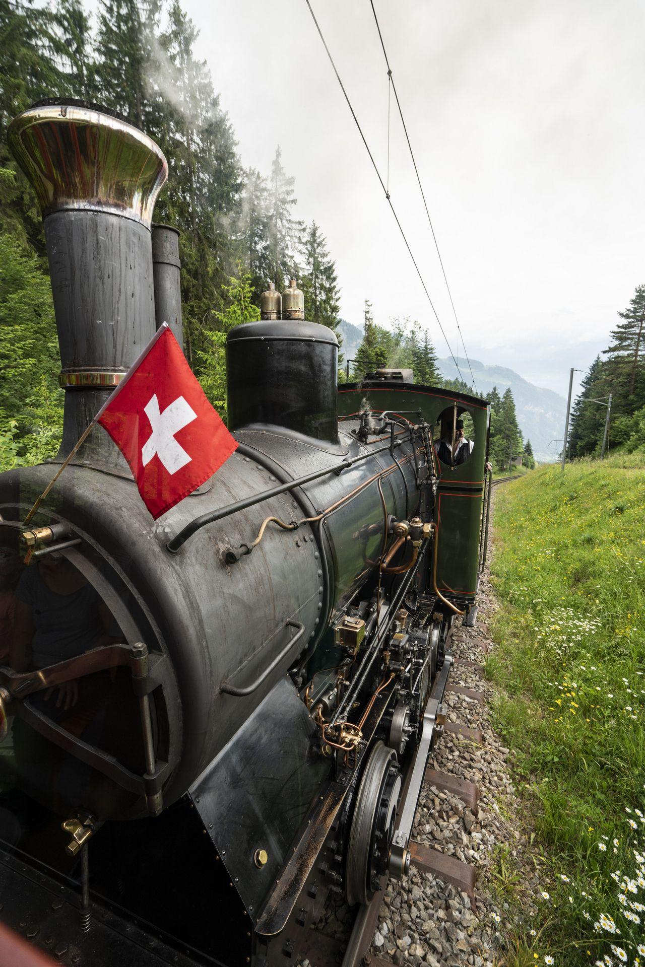 Nostalgic steam train ride