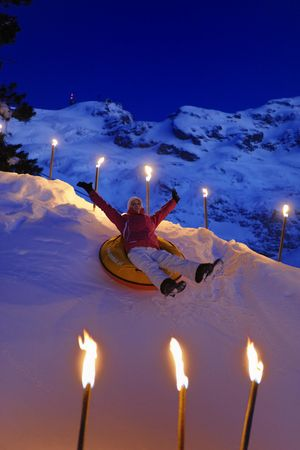Seminar and snowtubing with raclette fun in Engelberg