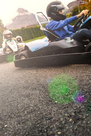 Erleben Sie Action beim Go Kart