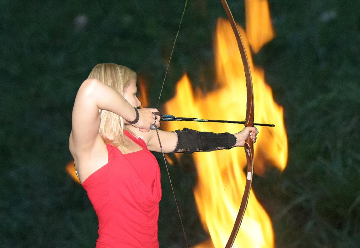 Atmospheric nighttime archery