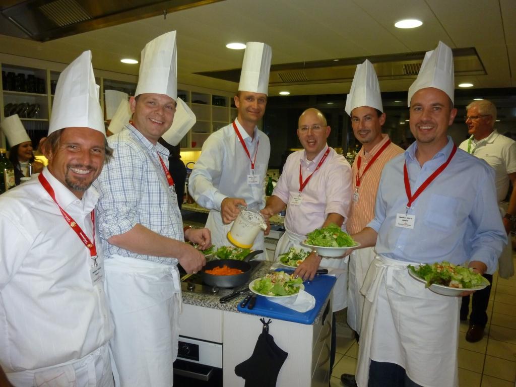 Team cooking in Lucerne