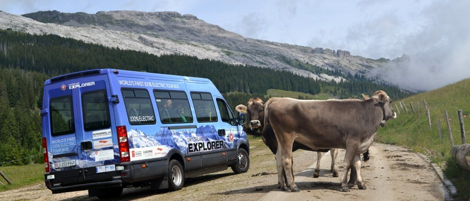 Electric Bus around the Entlebuch